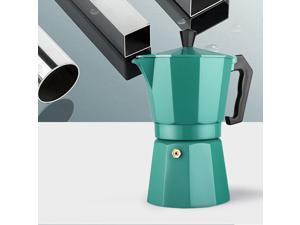 240ml Coffee Pot Aluminum Moka Maker Stove Top Percolator Drip Kettle Green