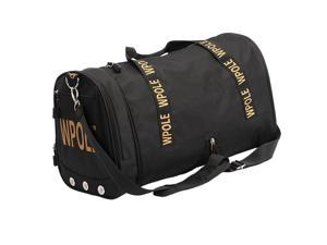 Waterproof Yoga Gym Duffel Bag Sports Handbag with Shoes Compartment  Black