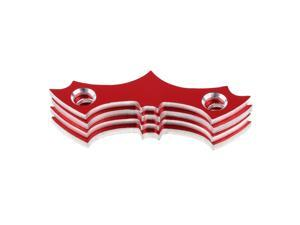 4pcs Aluminum Alloy Skateboard Deck Protective Gasket Longboard Part Red