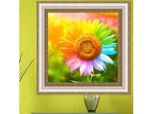 Full Drill Sunflower Diamond Painting Cross Stitch Art Home Decor 40 x 40cm