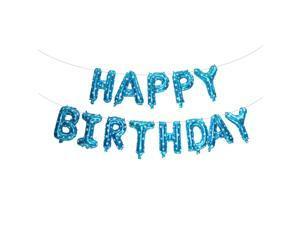 13pcs/Set Happy Birthday Banner Balloons Aluminum Foil Balloons Blue