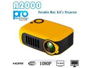 US 320x240 Standard Mini Portable Home Movie Theater Kid\'s Projector 1080p