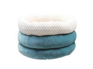 Cute Round Cave Shape Pet Sleeping Bed Cozy Winter Bed For Cat Dogs Blue