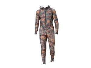 Mens Camouflage Full Body Wetsuit SCUBA Diving Surfing Spearfishing  4XL