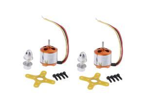 2 Sets A1510 2200KV Brushless Drone Outrunner Motor for RC Aircraft