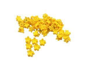 50pcs Floral Mini Hair Claw Clip Hair Pin for Baby Girl Yellow