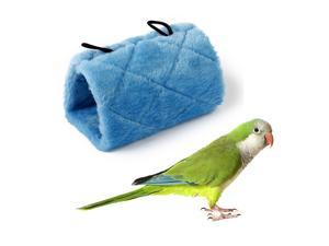 Blue Parrot Bird Hammock Hanging Cave Cage Plush Hut Tent Bed Parrot Toy S