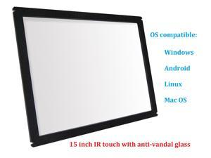 15 Inch Multi Points IR Touch Screen Infrared Touch Panels Overlay USB Free Driver HID Compatible