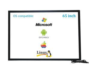 65 Inch 10 Points Multi-Touch Infrared Touch Overlay 65 inches IR Touch screen Panel Infrared Touch Frame USB Free Driver HID Compatible