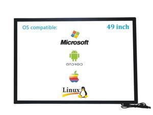 49 Inch 10 Points Infrared IR Multi Touch Screen Overlay Frame Panel USB Free Driver