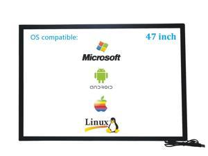 47 Inch 10 Points Infrared IR Multi Touch Screen Overlay Frame Panel USB Free Driver