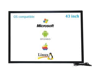 43 Inch 10 Points Infrared IR Multi Touch Screen Overlay Frame Panel USB Free Driver