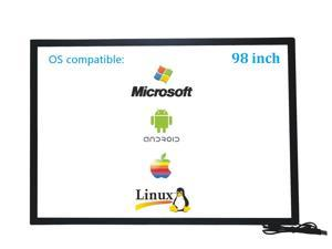 98 Inch 10 Points Infrared IR Multi Touch Screen Overlay Frame Panel USB Free Driver