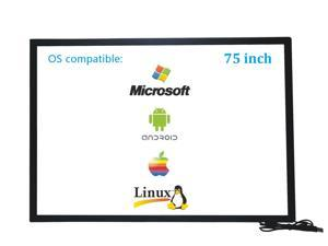 75 Inch 10 Points Infrared IR Multi Touch Screen Overlay Frame Panel USB Free Driver