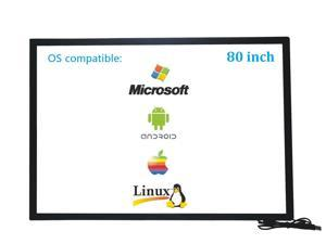 80 Inch 10 Points Infrared IR Multi Touch Screen Overlay Frame Panel USB Free Driver