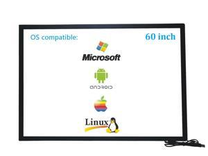 60 Inch 10 Points Infrared IR Multi Touch Screen Overlay Frame Panel USB Free Driver