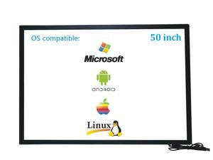 50 Inch 10 Points Infrared IR Multi Touch Screen Overlay Frame Panel USB Free Driver