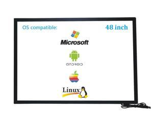 48 Inch 10 Points Infrared IR Multi Touch Screen Overlay Frame Panel USB Free Driver