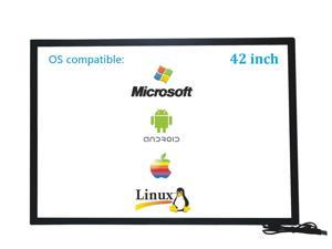 42 Inch 10 Points Infrared IR Multi Touch Screen Overlay Frame Panel USB Free Driver