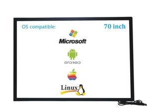 70 Inch 10 Points Infrared IR Multi Touch Screen Overlay Frame Panel USB Free Driver