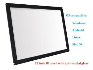 22 Inch Multi Points IR Touch Screen Infrared Touch Panels Overlay USB Free Driver HID Compatible