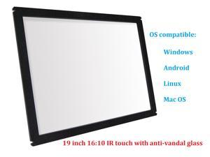 19 Inch 16:10 Multi Points IR Touch Screen Infrared Touch Panels Overlay USB Free Driver HID Compatible