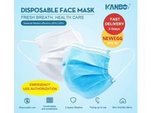 200pcs/4box KANBO Earloop Disposable Face Masks, disposable 3-Layer Common Protective Masks Daily 3-Layer Masks