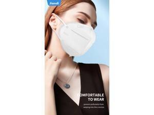 [10 pcs] Jiandi KN95 Protective Face Masks, 5 Layers, Single Use Face Mask, Unisex