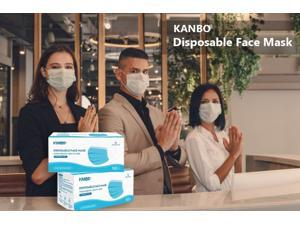 [Limited time sale, Original price $169.99 ] 200pcs/4 Boxes KANBO Face Masks Best deal for small business, Reviews on YouTube, High quality, Elastic Ear-Loop Disposable Face Masks with 3-layer