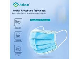 [100pcs] 10pcsX10 Portable Packs Anknar Face Masks Size: 6.9'' X 3.7'', 10 pcs per pack.