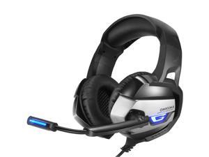 Onikuma K5 Gaming Headset with Microphone (Over-Ear Headphones & Noise Canceling Mic) for Sony PlayStation, Microsoft XBox, Nintendo Switch & PC Gaming