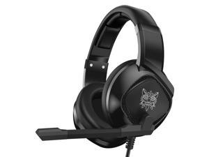 Onikuma K19 Gaming Headset w/ Mic and RGB Lights for Sony PlayStation, Microsoft Xbox, Nintendo Switch, PC Gaming & Mobile Gaming
