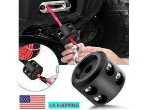 Universal Winch Cable Hook Stopper Rubber Rope Line Saver for ATV UTV Vehicle
