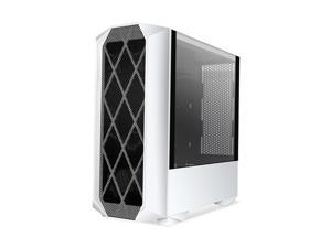 Segotep Typhon ATX White Mid Tower PC Gaming Tempered Glass Computer Case USB 3.0 Port w/ Graphics Card Vertical Mounting  (PC Case ONLY)