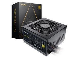 Segotep 600W Power Supply 80 Plus Gold Certified PSU Gaming Power Supply with Silent 120mm Fan Non-Modular