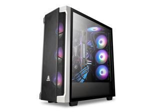 Segotep Phoenix T1 E-ATX Full-Tower PC Gaming Case, Tempered Glass Side Panel, Cable Management/Optional 360mm Water Cooling, Supports up to 7 Fans, Front I/O USB 3.0 Type-C Port, Desktop Compute Case
