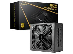 Segotep 650W Power Supply Fully Modular 80 Plus Gold PSU with Silent 140mm Fan