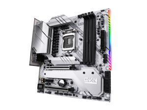 Segotep CVN B560M Motherboard (Intel 11th/10th Gen) GAMING FROZEN V20 (Micro ATX, LGA 1200 Socket, CNVI WIFI /BT Module Slot, DDR4, PCIe 4, M.2, USB 3.2 Gen 2, DP/HDMI Ports, RGB Headers)