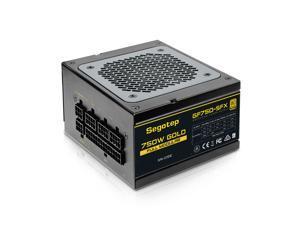 Segotep GF750 SFX Power Supply Fully Modular 750W 80+ Gold PSU, Silent 80mm FDB Fan