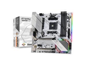 Colorful CVN B550M GAMING FROZEN V14 MATX Gaming Motherboard AMD AM4 & 3rd Gen AMD Ryzen DVI HDMI/ USB 3.1/ M.2 Slots/ SATA 3.0/ iGame Center Lighting Control Misty-white PCB Technology Mainboard