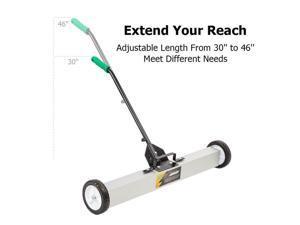 "36"" Magnetic Sweeper w/ Wheels, Magnetic Sweeper Pickup Tool, Adjustable Handle"