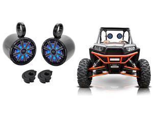 "Pair   KM8 8"" 600 Watt LED Tower Speakers For Polaris RZR/ATV/UTV/Cart/Jeep"