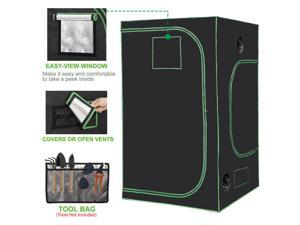 48x48x80 Inch  Hydroponic Grow Tent Box Seed Room with Window and Floor Tray