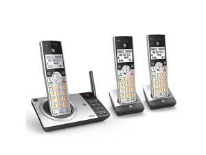 DECT 60 Expandable Cordless Phone with Answering System SilverBlack with 3 Handsets
