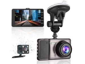 """Dash Cam Front and Rear for Cars 1080P Dashboard Camera 3"""" LCD Screen Driving Recorder 170° Wide Angle with Night Vision/G-Sensor/WDR/Parking Monitor/Motion Detector/Loop Recording"""