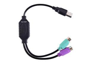 USB Male to PS2 Female Converter Cable Cord Converter Active Adapter PS2 Keyboard Mouse Cable