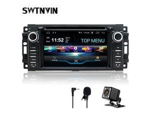 Android 90 Car Stereo Navigation for Jeep Wrangler Dodge Chrysler 2GB RAM 32GB ROM HD Touch Screen Multimedia Indash DVD Player Support GPS Bluetooth WiFi teering Wheel with Backup Camera