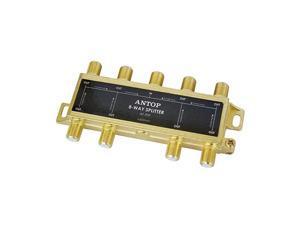 8541719146 8 Way TV Signal SplitterDigital Coax Cable Splitter 2GHz 52050MHz High Performance for SatelliteCable TV Antenna