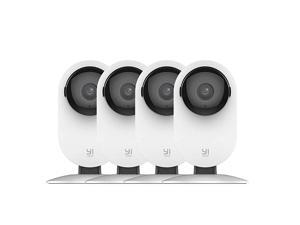 by kami 4pc Security Home Camera, 1080p WiFi Smart IP Indoor Nanny Cam with Night Vision, 2-Way Audio, Motion Detection, Phone App, Pet Cat Dog Cam - Works with Alexa and Google