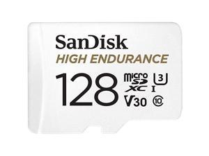 128GB High Endurance Video MicroSDXC Card with Adapter for Dash Cam and Home Monitoring systems C10 U3 V30 4K UHD Micro SD Card SDSQQNR128GGN6IA